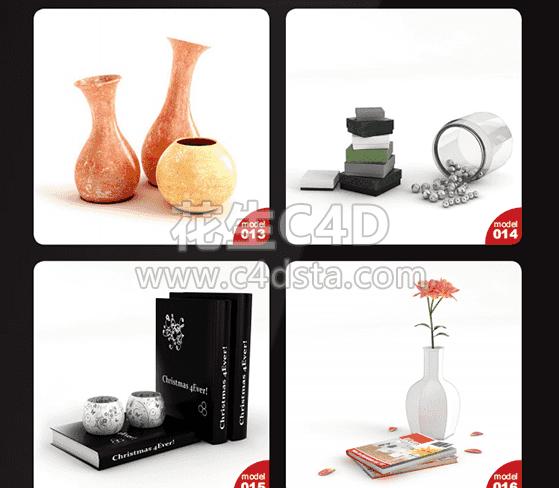 三维模型-40个室内小装饰3D模型 Archmodels Vol.120 626CG资源站