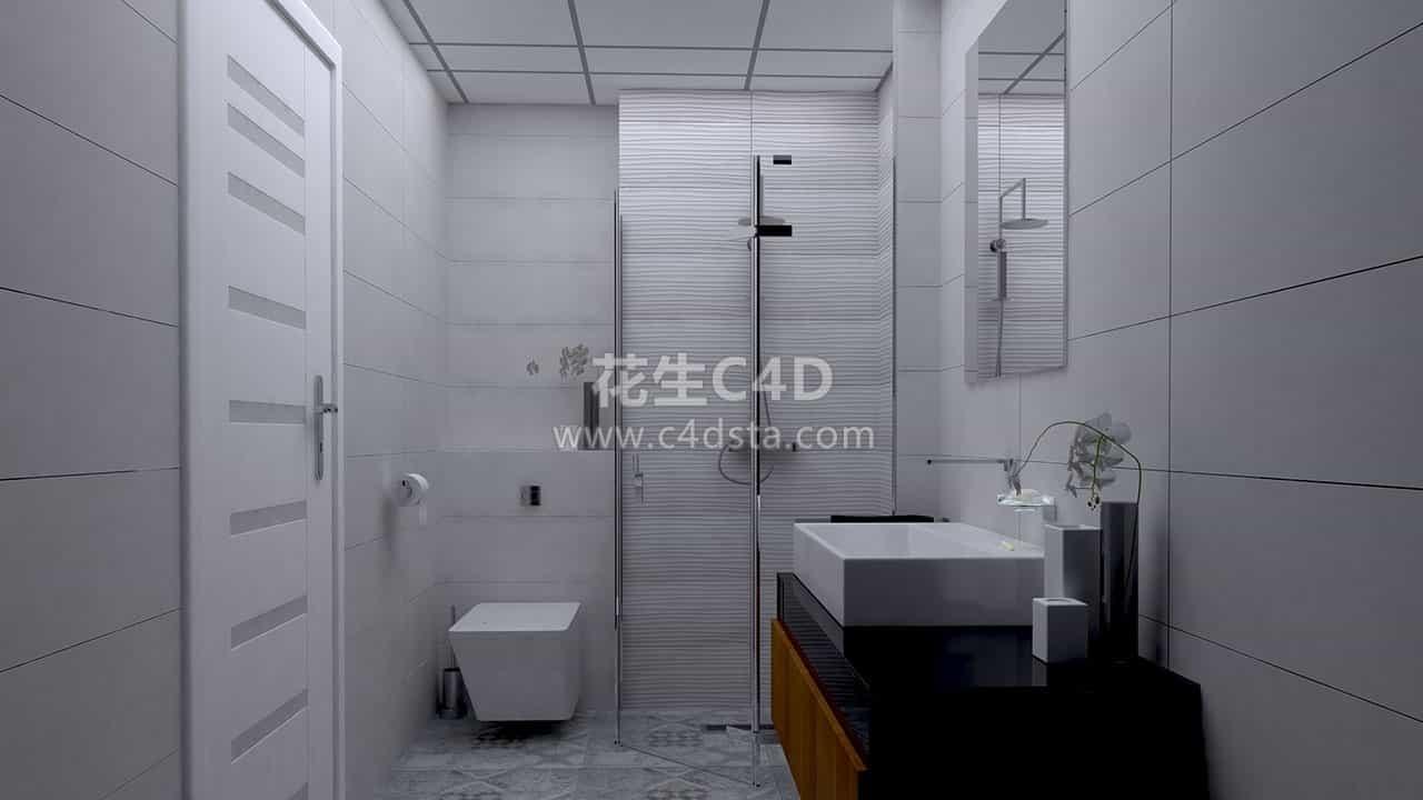三维模型-室内家具洗手间场景模型 626CG资源站