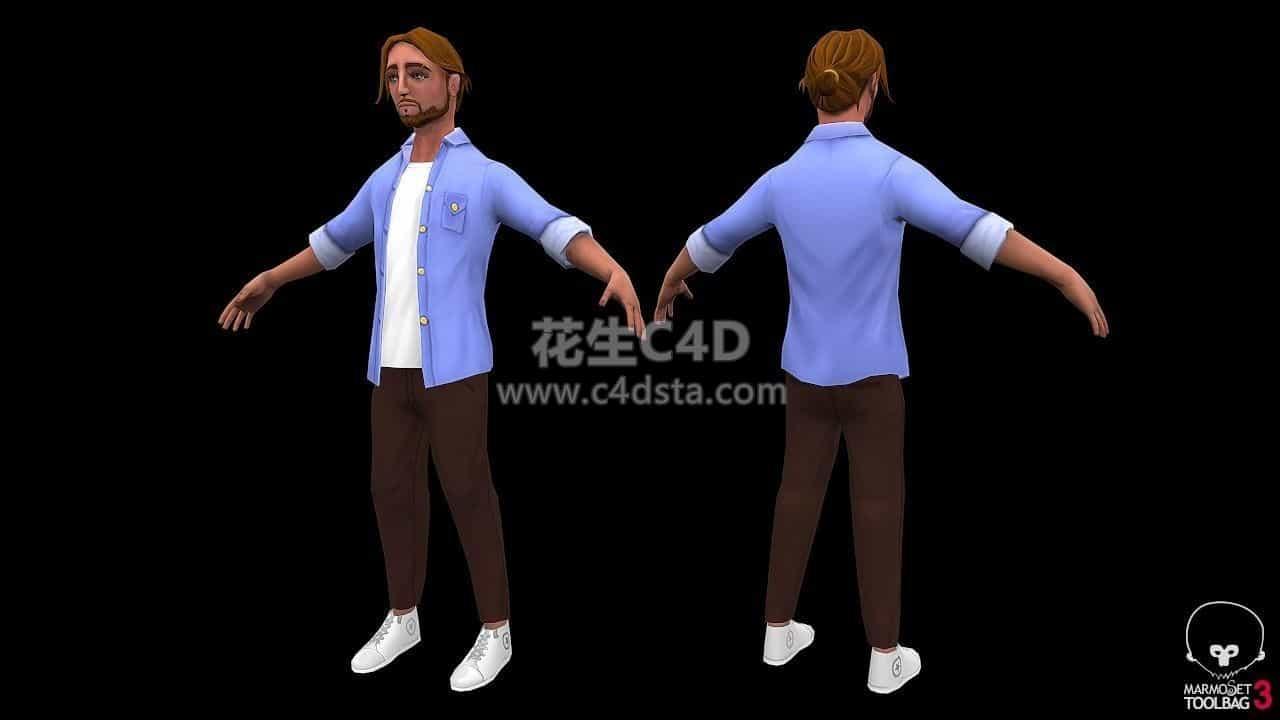 三维模型-男人模型男性角色人物模型 626CG资源站