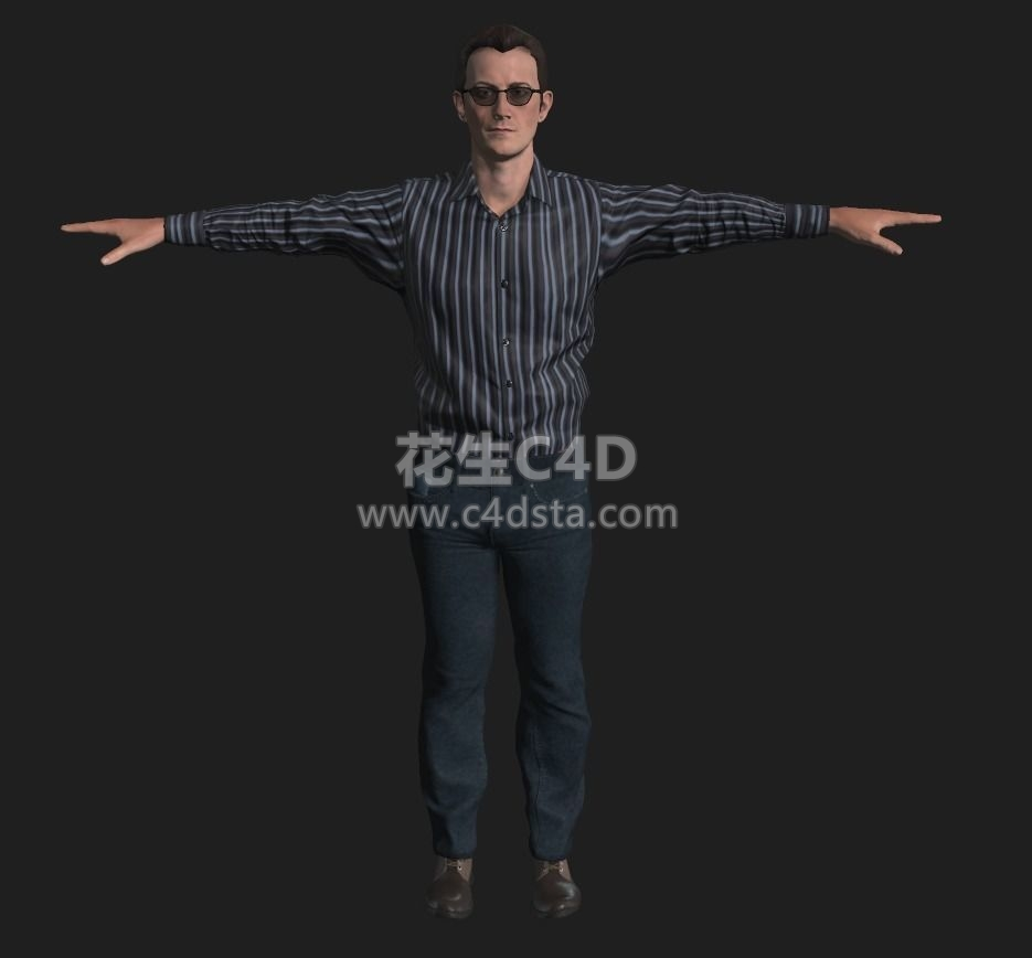 三维模型-五个不同人物角色男性女性模型 626CG资源站