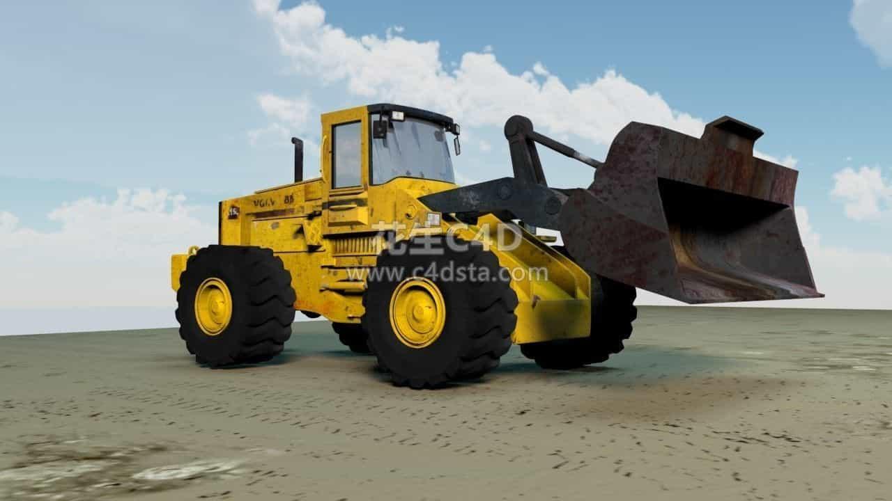 三维模型-机动车模型铲车模型装卸车模型 626CG资源站