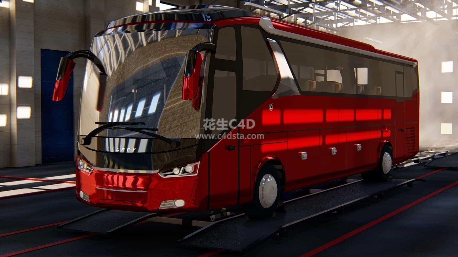 三维模型-大巴车现代巴士长途客运汽车客车模型 626CG资源站