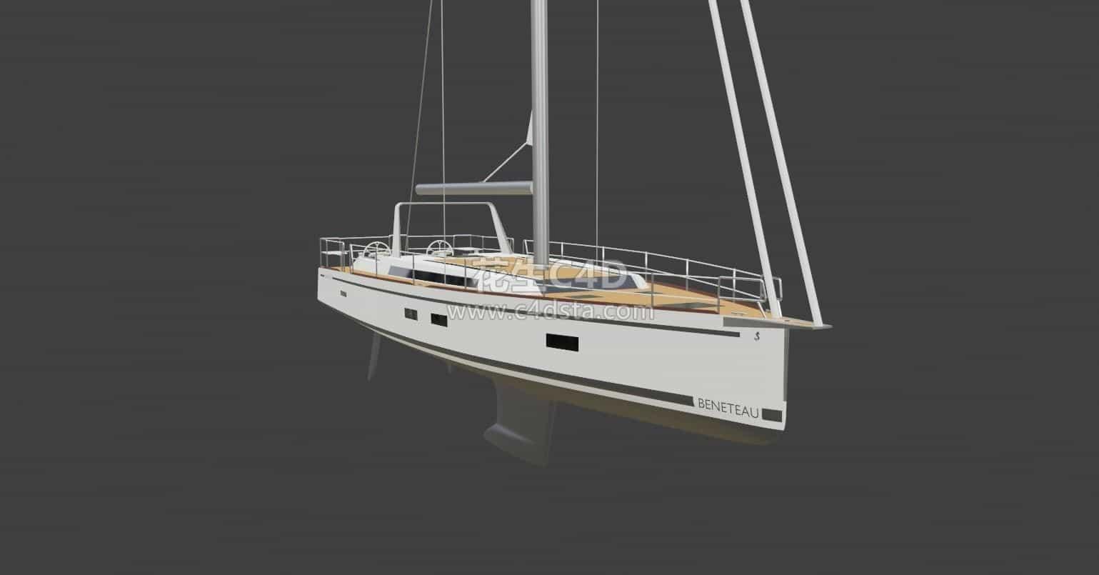 三维模型-帆船模型船模型海上帆船模型 626CG资源站