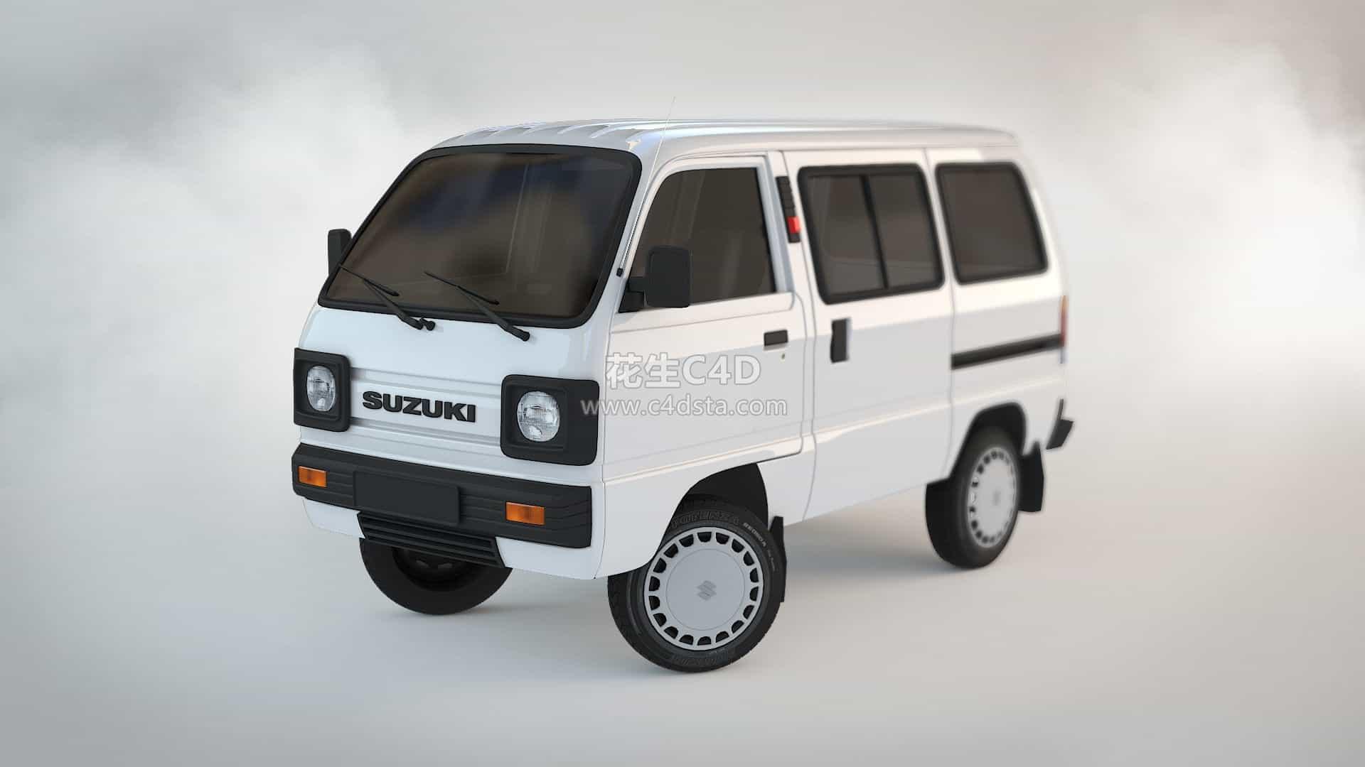 三维模型-面包车模型小型客车模型小汽车小面包车模型 626CG资源站