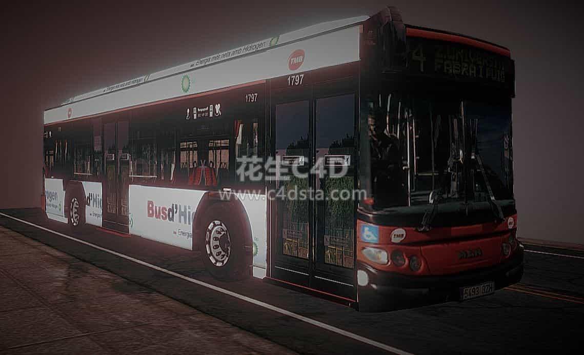 三维模型-大巴车现代巴士公交车客车模型 626CG资源站