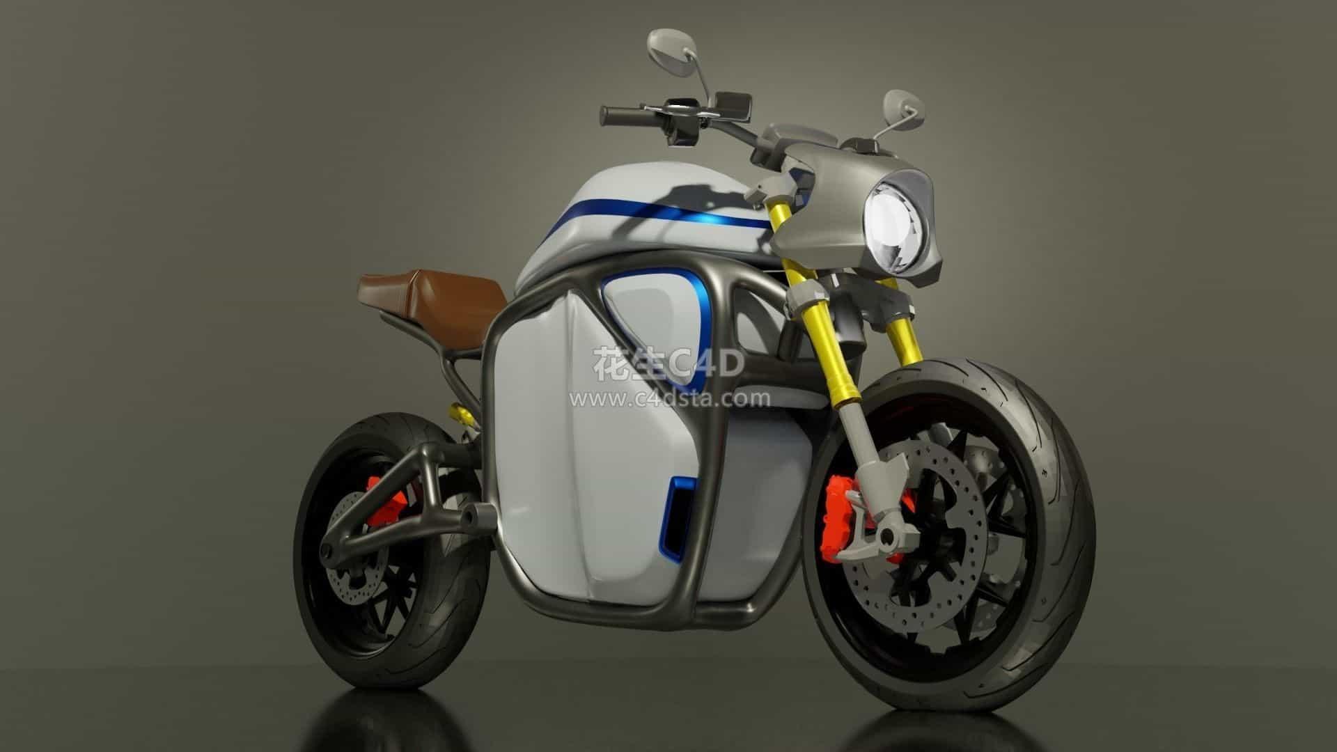 三维模型-摩托车模型越野摩托赛车模型 626CG资源站