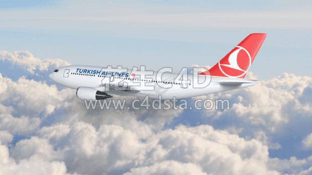 三维模型-航空飞机模型客机模型交通工具模型 626CG资源站