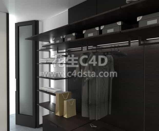 三维模型-家庭衣柜模型衣橱模型室内家具模型  626CG资源站
