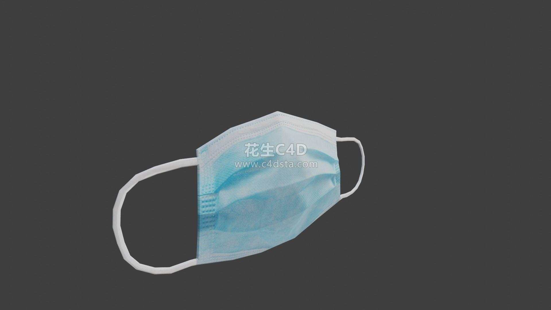 三维模型-一次性医用口罩医生手术口罩细菌病毒防护口罩 626CG资源站
