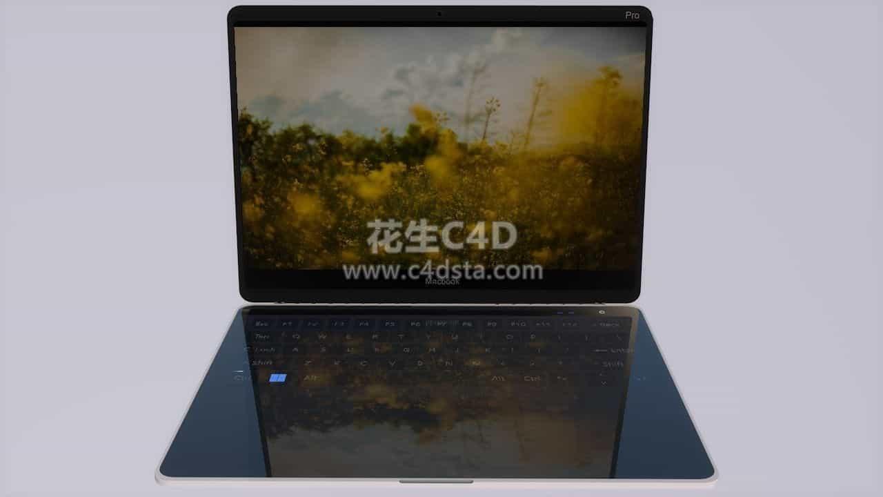 三维模型-Macbook 2020苹果笔记本电脑模型 626CG资源站