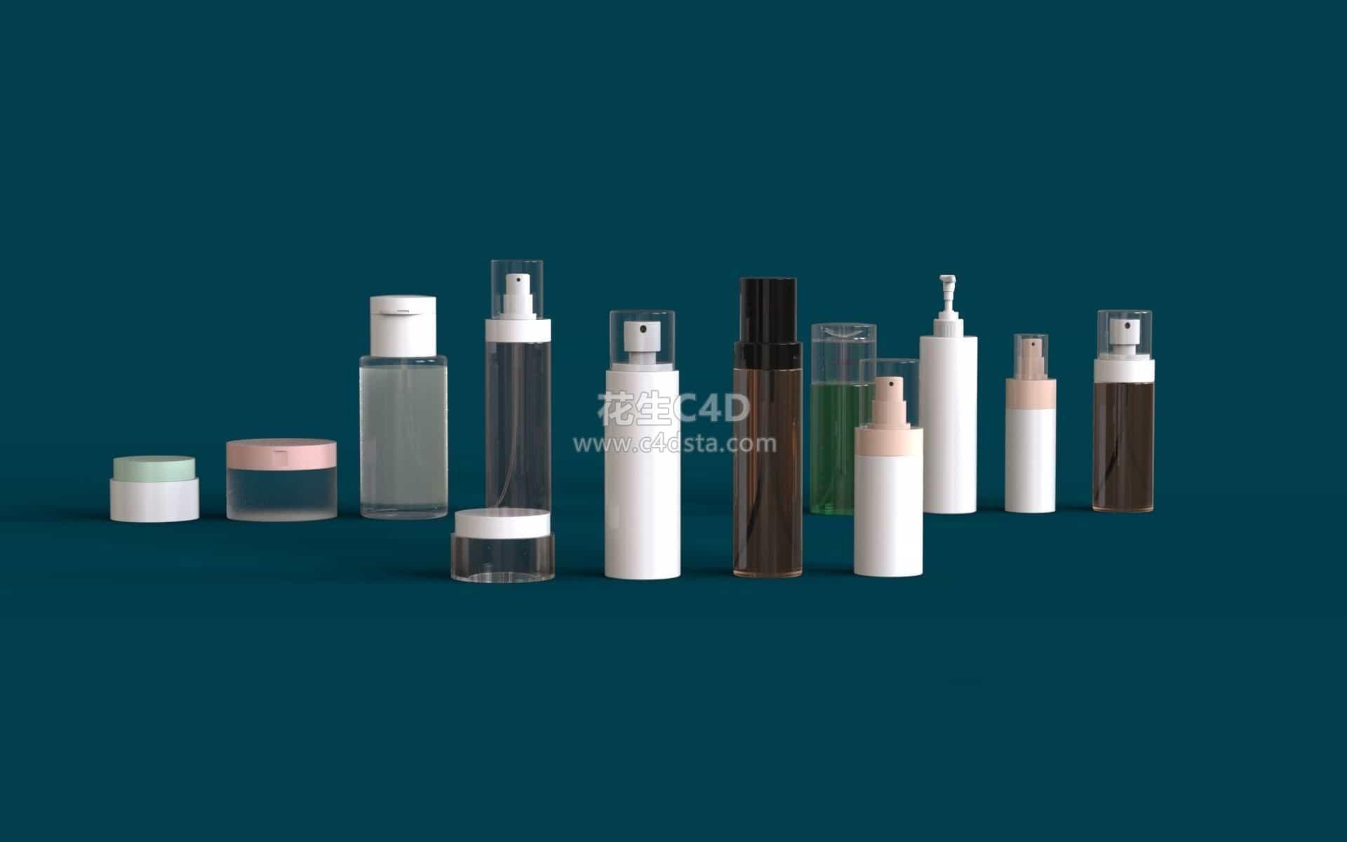 三维模型-化妆品瓶子按压喷雾小瓶子模型 626CG资源站