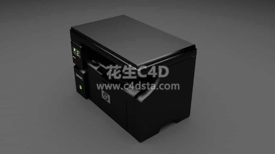 三维模型-超精细办公用品惠普打印机数码复印机 626CG资源站