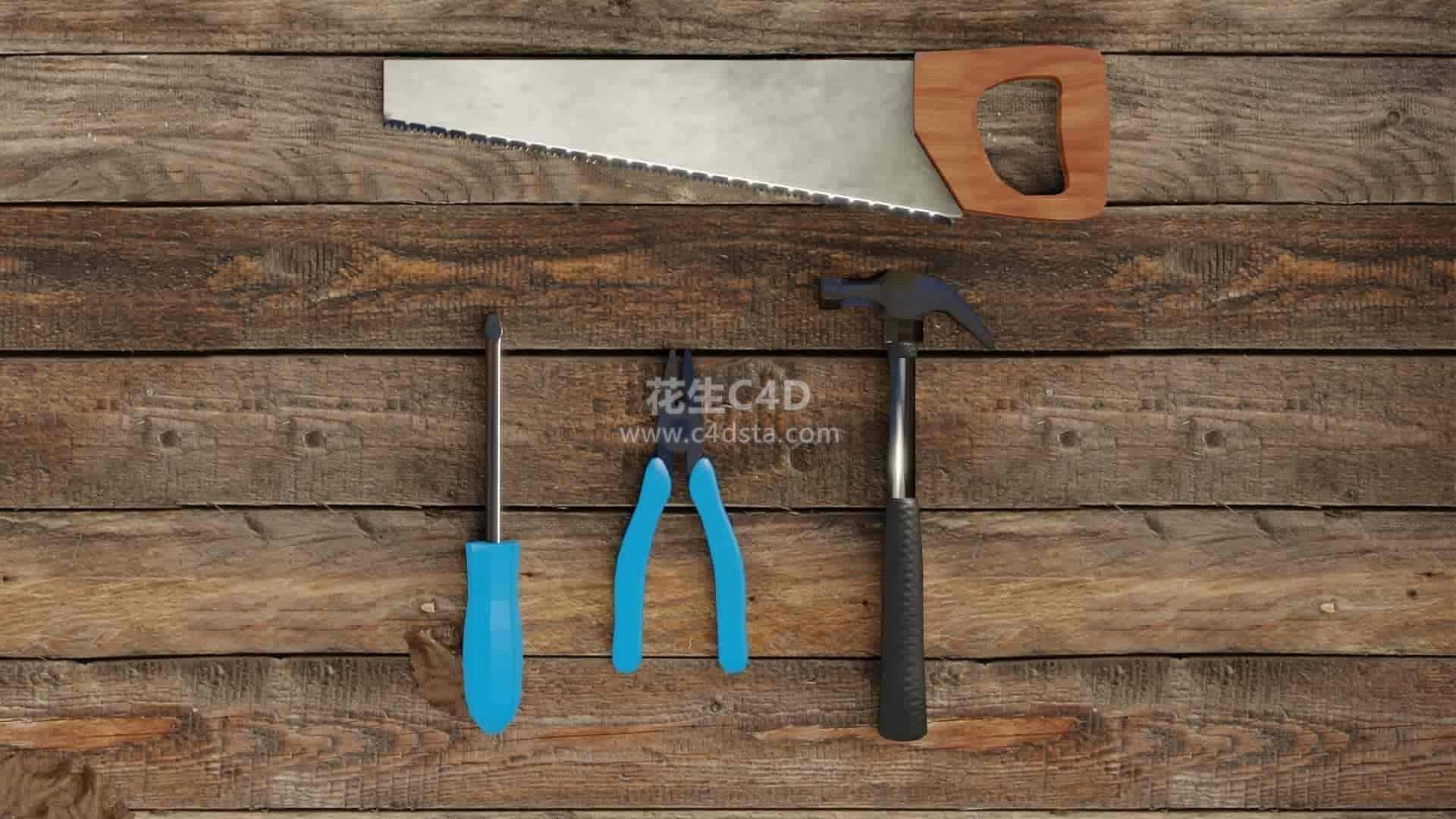 三维模型-扳手钳子锤子五金工具模型包 626CG资源站