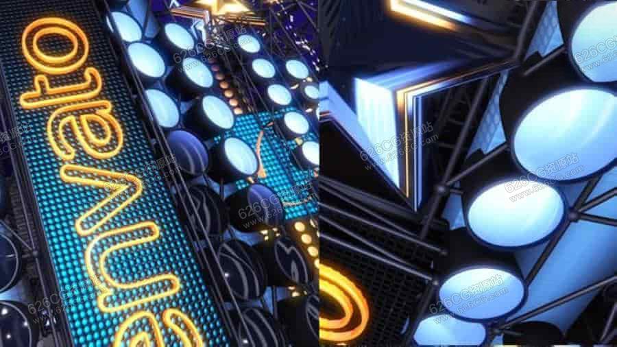 AE模板:舞台灯光LOGO演绎开场动画 Videohive – Light Stage Logo