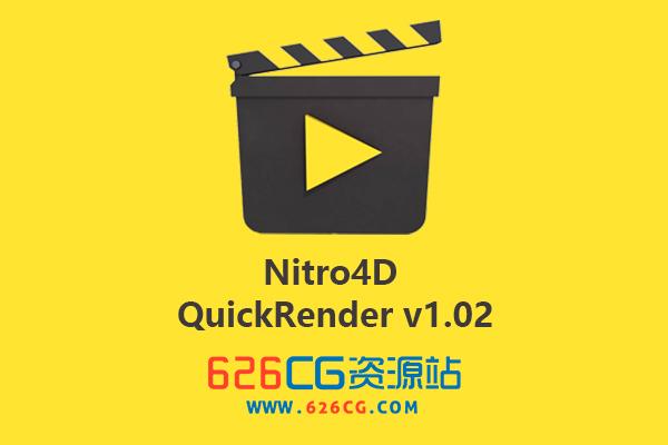 C4D插件:C4D视窗快速预览渲染动画拍屏插件 Nitro4D – QuickRender v1.02 for Cinema 4D 626CG资源站