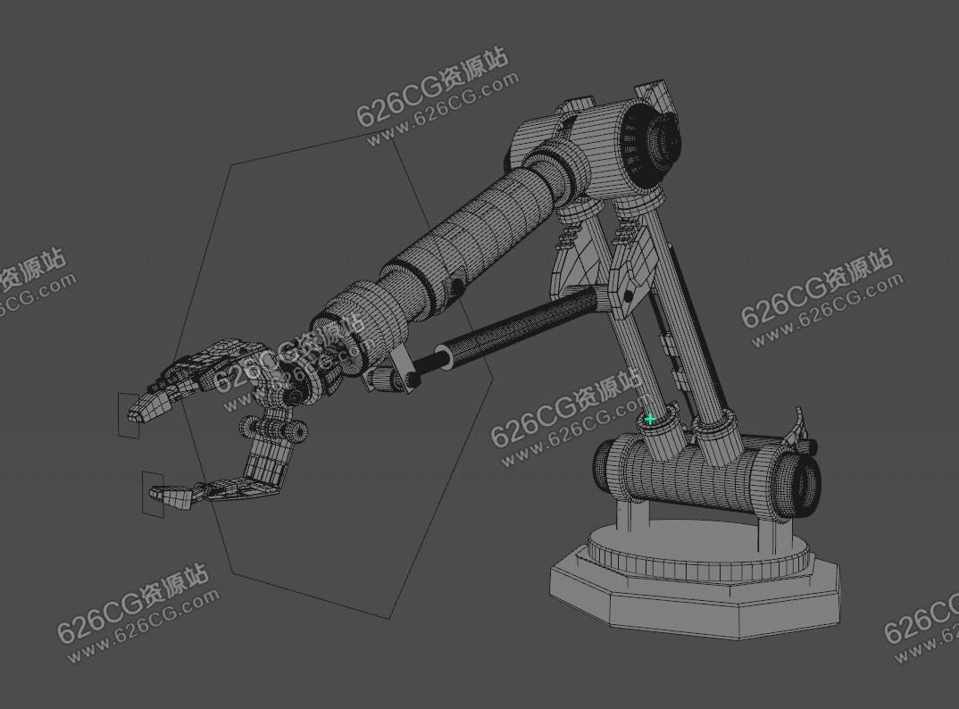 C4D液压机械臂带带绑定 C4D机械臂模型 626CG资源站