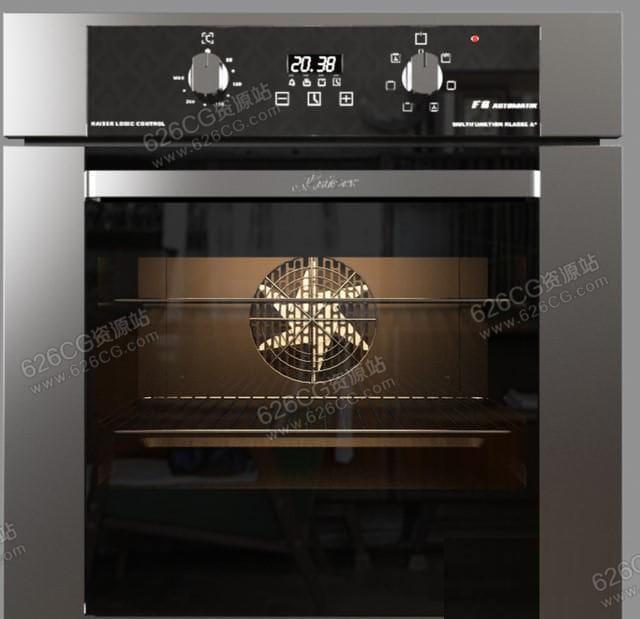 三维模型:电烤箱蒸箱电蒸箱变频蒸箱厨房电器家用电器 626CG资源站