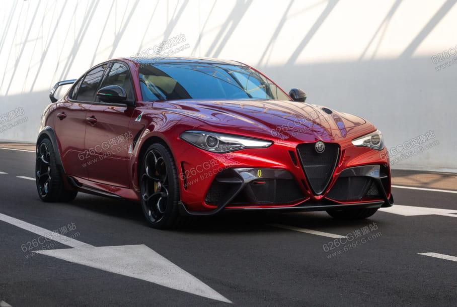 三维模型:2021款阿尔法罗密欧汽车模型Alfa Romeo Giulia GTAm 2021 626CG资源站