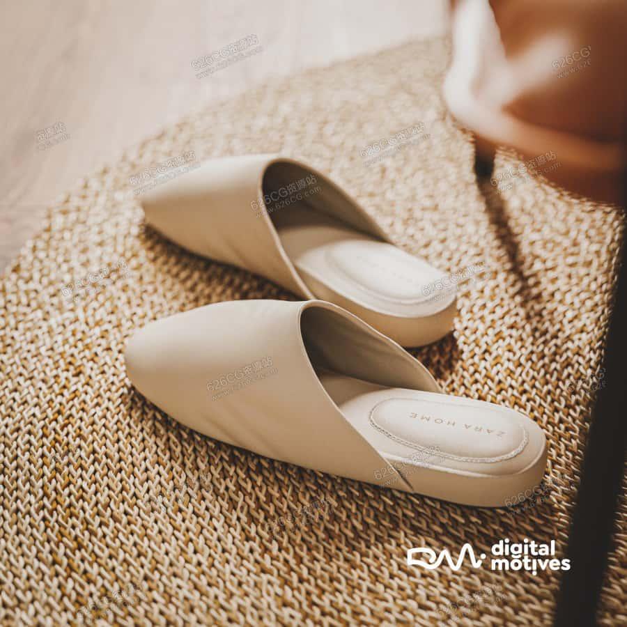 三维模型:写实皮质鞋托凉鞋包脚拖鞋 626CG资源站