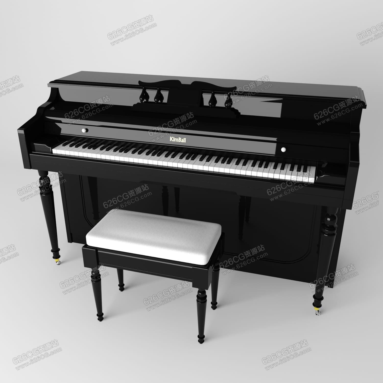 三维模型:现代家居写实钢琴乐器钢琴儿童钢琴piano 乐器 626CG资源站