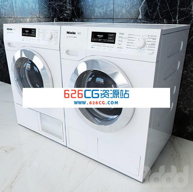 三维模型:家用全自动滚筒洗衣机智能洗衣机智能电器洗烘一体机 626CG资源站