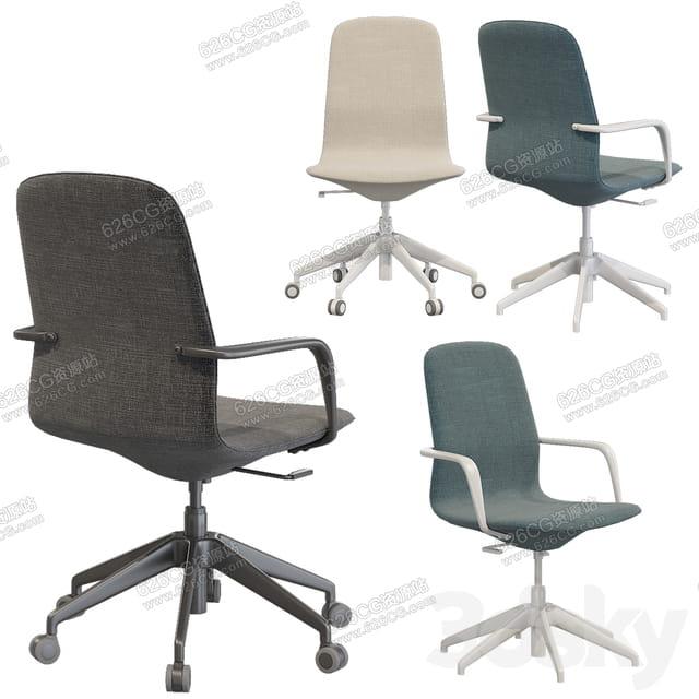 三维模型:旋转办公椅座椅靠背椅电脑椅升降椅办公椅 626CG资源站
