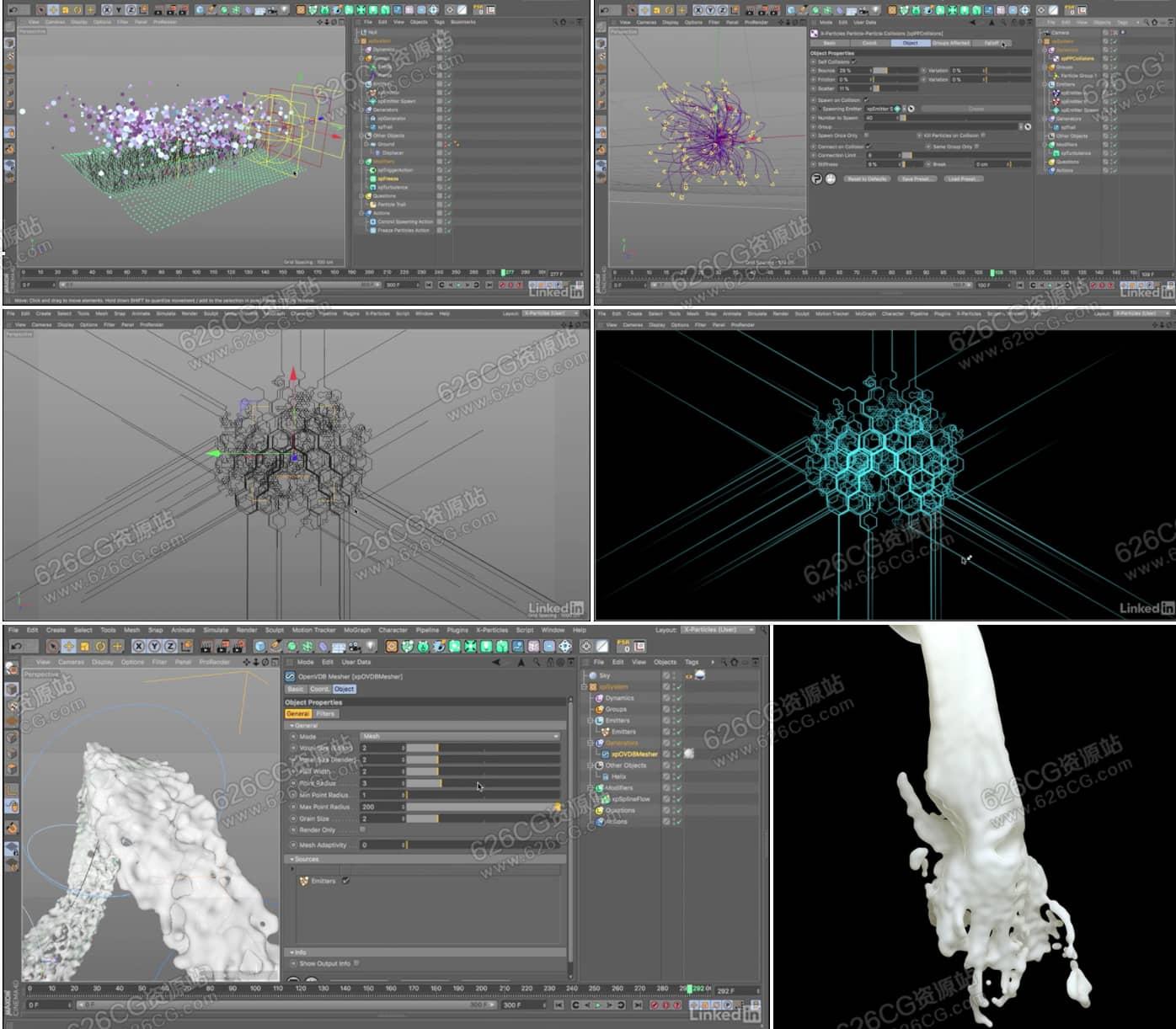 C4D教程:XP粒子基础培训学习X-Particles实用技巧教程 Lynda - X-Particles 4 for Cinema 4D Essential Training 626CG资源站