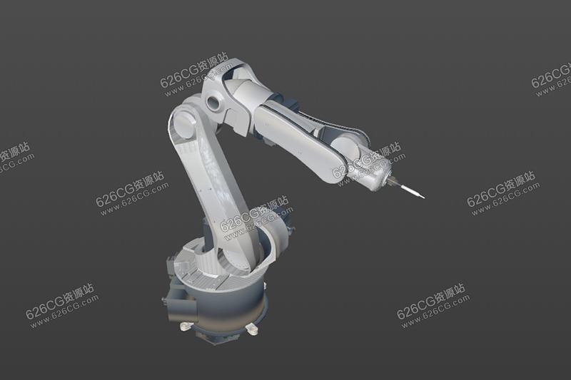 C4D机械臂模型医疗机械臂科技概念机械臂三维模型 626CG资源站