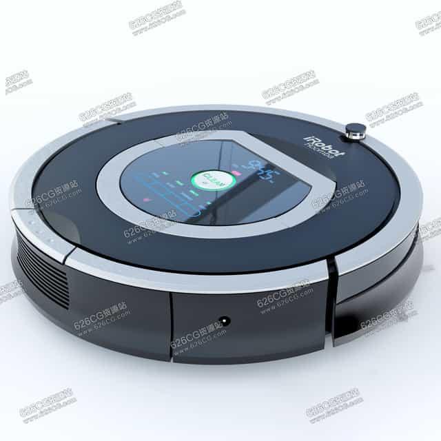 三维模型:智能家用圆盘吸尘器扫地机器人智能家居产品 626CG资源站