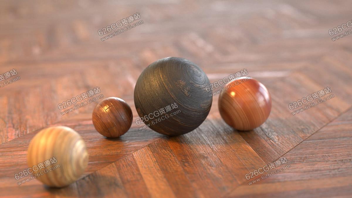【全网首发】280多种Redshift 材质木纹木头预设 REDSHIFT MUTATING MATERIALS: WOODS 626CG资源站